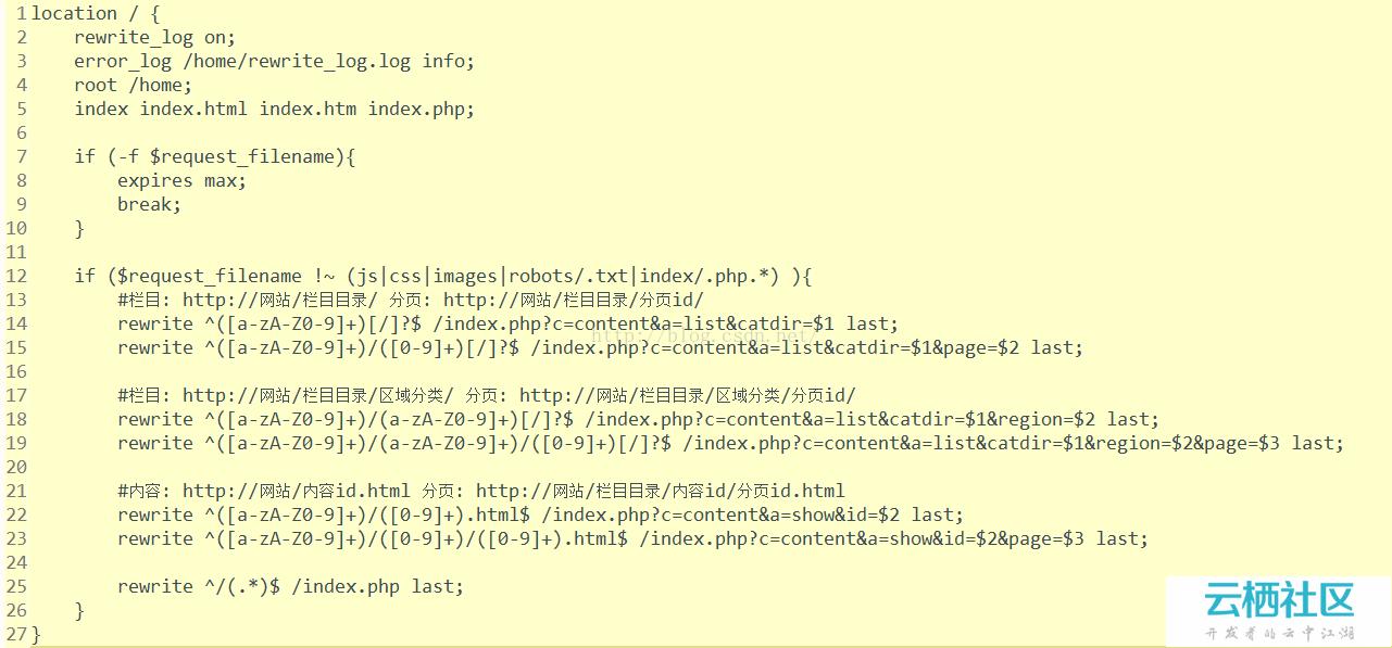 finecms2.0.1版本在nginx下面rewrite伪静态规则