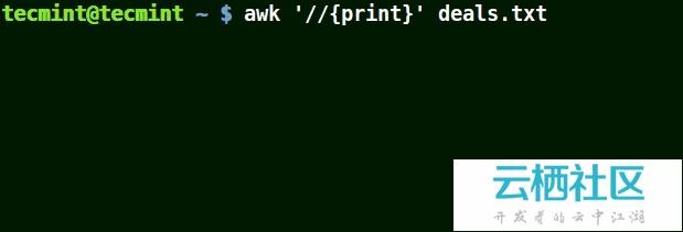 如何使用 awk 和正则表达式过滤文本或文件中的字符串