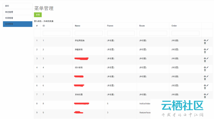 Yii2 菜单menu管理