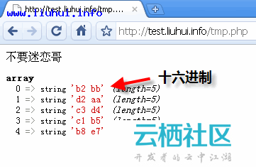 PHP中实现中文字符进制转换原理分析