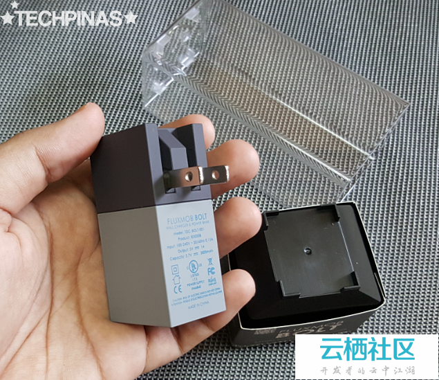 Fluxmob Bolt Price is Php 2,800 : Powerbank and Mobile Charger in One! Perfect for Avid Tra...
